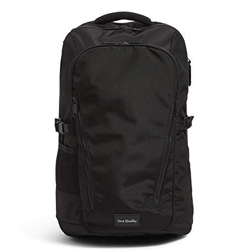 Vera Bradley Recycled Lighten Up Reactive Lay Flat Travel Backpack, Black