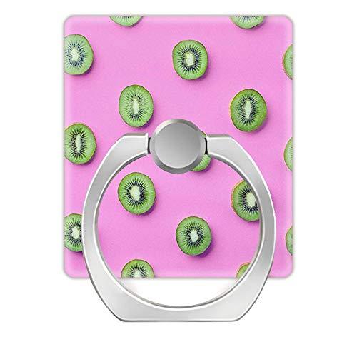 Z861 360 Grad drehbarer Ringständer, Halterung für alle Smartphones, Kiwi Pink