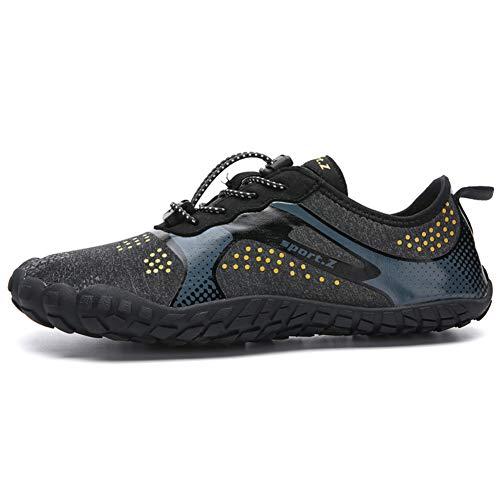 LFLDZ Frauen der Männer Wasser Schuhe, Schnell trocknend Aqua Schuhe Leichte Durable Barefoot Wasserschuhe, für Schwimmbad Segeln Surfen Tauchen Yoga (35-46),Schwarz,41