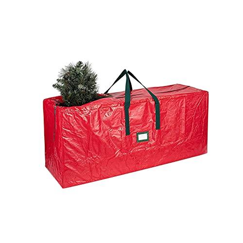 BWLIZIYEZI - Borsa portaoggetti per albero di Natale, in materiale Oxford resistente, con manici rinforzati e cerniera impermeabile