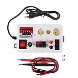 Buwei Probador de Potencia de Voltaje de Caja de luz de Prueba rápida LED Bombilla de lámpara E27 B22 E14 con zumbador