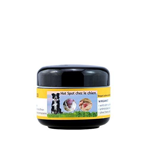 Peticare Chien Bio Pommade Contre Pyo-Dermite et Hot-Spot - Le Baume Calme & Favorise la Cicatrisation de la Peau Irritee, Traitement Anti Dermatite, Soin 100% Biologique - petDog Health 2109 (50 ML)