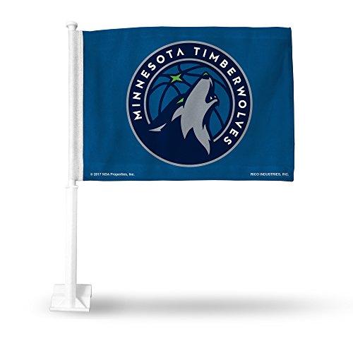 Rico Industries NBA Minnesota Timberwolves Autoflagge, Blau mit weißem Stab