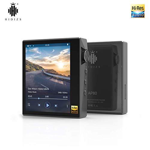 HIDIZS AP80 Reproductor de Música MP3 Sin Pérdida de Alta Resolución con Bluetooth LDAC/aptX/FLAC, Reproductor de Audio Bluetooth Hi-Fi con Pantalla Táctil Completa (Gris)