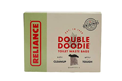 Reliance Products Double Doodie | Portable Toilet Waste Bags | No Gel | 6 Pack