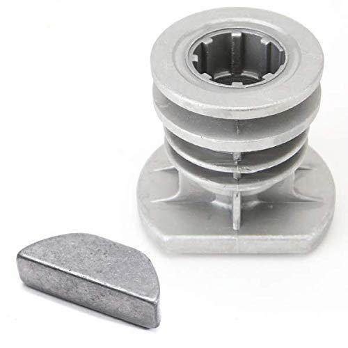Support de lame + clavette pour Castelgarden GGP 22465608/0 Ø 25,4 mm - Pièce neuve