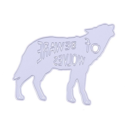 Demiawaking Wolf Cutting Dies Stencil Frame DIY Decoratie Embossing Sjabloon voor Scrapbooking Album Papier Kaart maken
