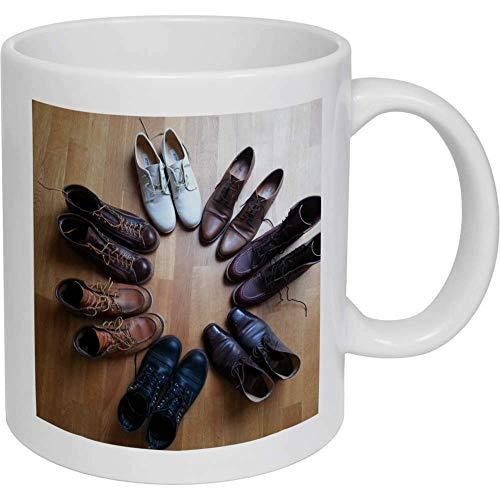 Zapatos círculo cerámica taza regalos para mujeres hombres