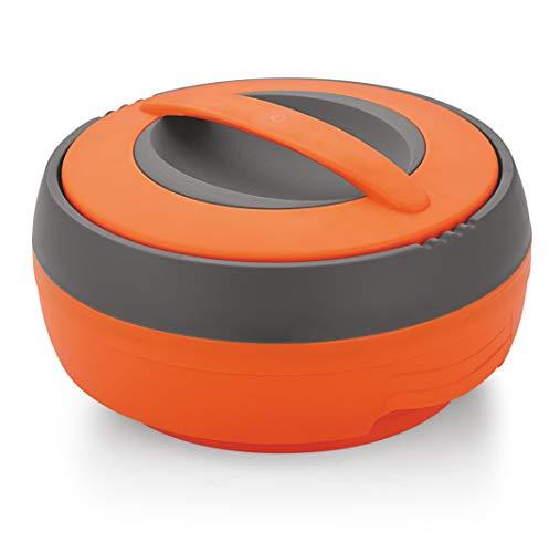 Asian Plastowares Plastic Casserole, 2.5 litres, Orange