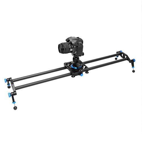 Selens 31.5'/80cm Carbon Fiber Camera Track Slider Video Stabilizer Rail with 6 Bearings for DSLR Camera DV Video Movie Film Video Making Photography, Load up to 22lbs / 10kg