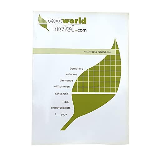 Cartelline Ecologiche EcoWorldHotel, Porta Documenti Meeting ed Eventi, Certificazione FSC -15 PZ -