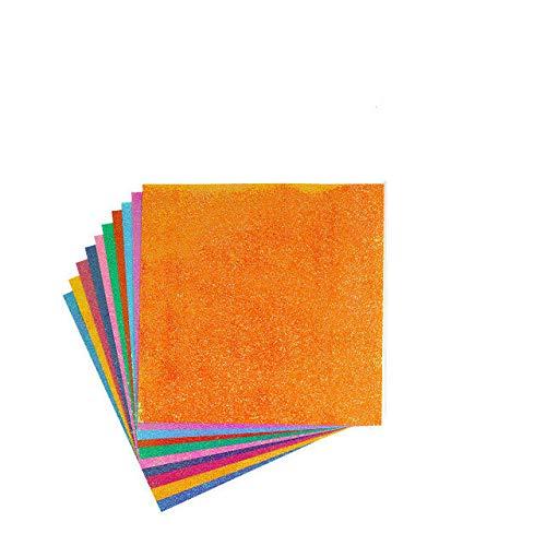 Papel de Origami Cuadrado Papel de artesanía de Color Brillante Plegable de una Cara Papel de diseño de decoración de álbum de Recortes Hecho a Mano para niños - 12.5x12.5cm Origami