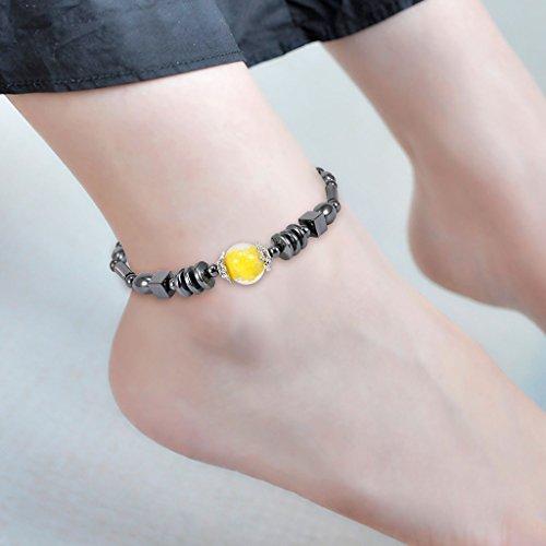 ECMQS Magnetfeldtherapie Fußkettchen, Gesunde Gewichtsabnahme Ankle Armband Für Frauen Männer Schmuck Neue (05#)