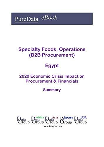 Specialty Foods, Operations (B2B Procurement) Egypt Summary: 2020 Economic Crisis Impact on Revenues & Financials (English Edition)