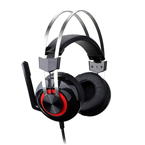 YWLGRX Esports Jedi Survival für das Spiel Wired Headset, 7.1 Surround Sound Retractable Noise Cancelling Mic Für PC, Xbox, PS4, Nintendo Switch