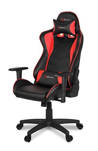 Arozzi Mezzo V2 Gaming Stuhl, Kunstleder, Rot, 53 x 50 x 137 cm