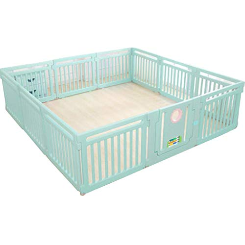 GFF Color Large Baby Playpen Activity CenteSafety Playard Door, Kid's Fence Indoor Outdoor, Easy Assembled, Anti-Slip Base with Lock