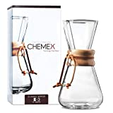 CHEMEX Pour-Over Glass Coffeemaker - Classic Series - 3-Cup -...