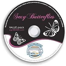 Butterflies/Butterfly Clipart-Vinyl Cutter Plotter Clip Art Images-Sign Design Vector Art Graphics CD-ROM (Volume 1)