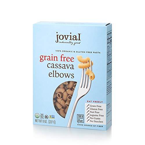 Jovial Grain-Free Cassava Elbows | Cassava Pasta | Paleo Pasta | Grain-Free | Certified Gluten-Free | 100% Organic Pasta | USDA Certified Organic | Non-GMO | High-Fiber | 8 oz (3 pack)