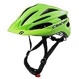 Cratoni Pacer, Lime Opaco - Riflettore, L-XL (58-62 cm) | Casco da Bicicletta caschi da Bicicletta Città MTB | Donna Uomo Bambino | Adattabile