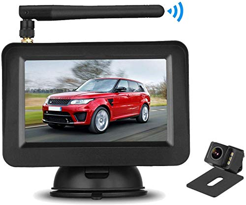 Aceeken HD 720P Wireless Backup Camera Kit with 4.3' LCD Screen for Cars,Trucks,SUVs,UTVs Driving/Backup Use,Mirror/Front View,IP69 Waterproof Reverse Cam Super Night Vision DIY Backup Guidelines