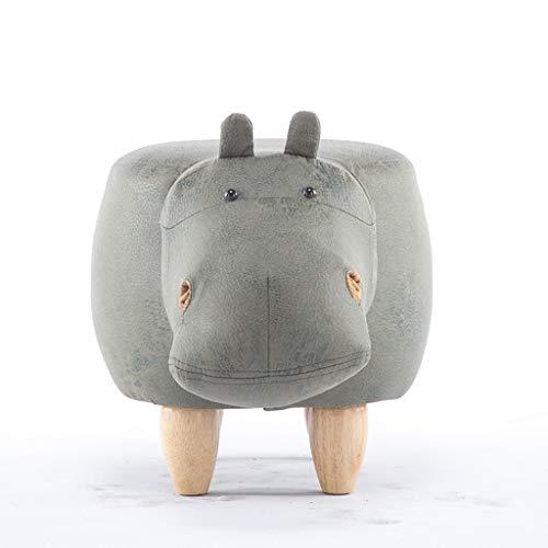 DaPengNB Massivholz-Fußbank Kreative Hippo Schuhe Bank Sofa Hocker Kinder Bench-Test Schuhe Hocker Lagerung Fußbank (Color : Green)