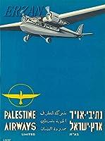 ERZAN30x40cmメタルポスター壁画ショップ看板ショップ看板テルアビブイスラエルパレスチナエアウェイズヴィンテージ航空会社の旅行広告ブリキ看板