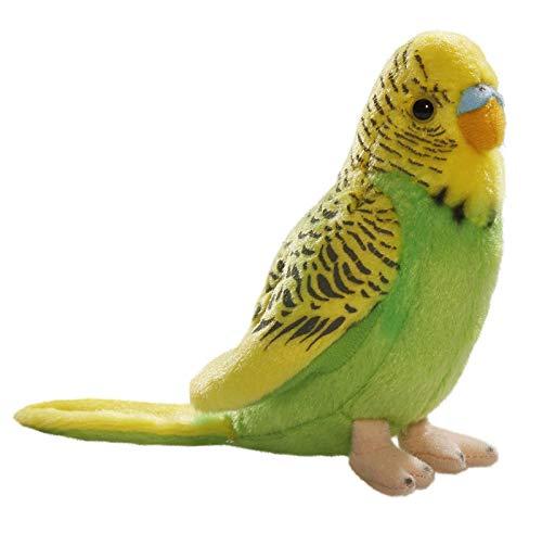 Carl Dick Peluche - Loro Verde y Amarillo (13cm)
