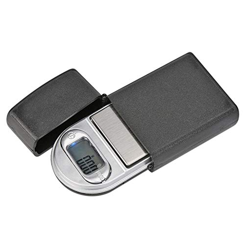 Demiawaking Balance numérique pour bijoux, 200 g/0,01 g, mini briquet, balance électronique, bijoux, or, argent, médicaments, herbes, taille de poche (Noir)