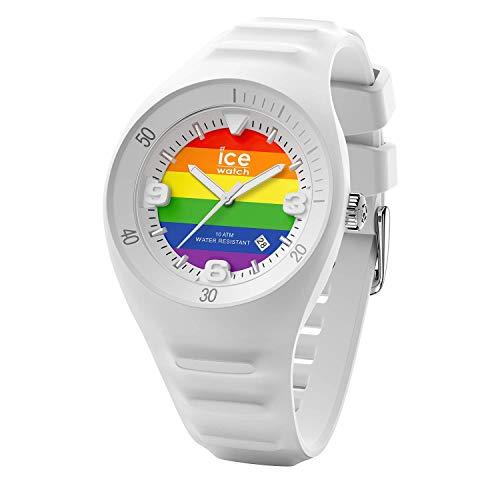 Ice-Watch - P. Leclercq Rainbow - Weiße Herrenuhr mit Silikonarmband - 017596 (Medium)