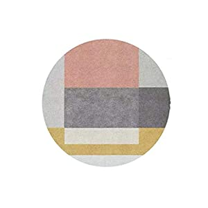 LHT Alfombra Redonda, Moderna, Minimalista, Cesta de Viento, Silla giratoria, Sala de Estar, Dormitorio, Estudio, Aseo IKEA Felpudos (Color : D, Size : 80 * 80cm)