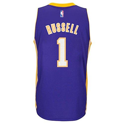 5ba58ef6423 adidas D Angelo Russell Los Angeles Lakers Road Swingman Jersey (Purple)