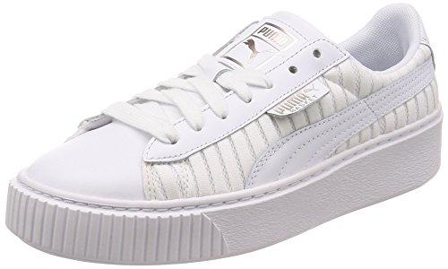 Puma Basket Platform EP Wn's, Zapatillas para Mujer, Blanco White White White, 39 EU