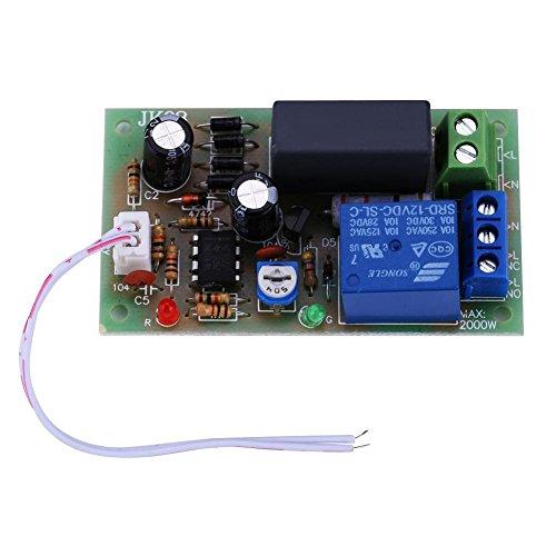 Módulo de Interruptor de Retardo del Temporizador, AC 220V Entrada/Salida Temporizador Ajustable Temporizador de 1 seg. A 5 Min Módulo de Interruptor de Retardo Apague la Placa(1Sec~5Min)