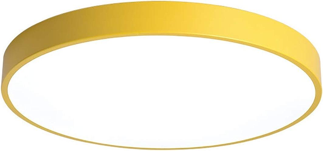 ZIXUANJIAXL Orange Jaune Lampe De Plafond De La Lampe De Plafond Moderne Minimaliste Moderne LED Salon Salle des Enfants Luminaires-A-60cm