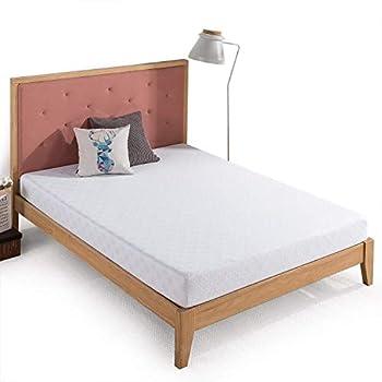 Zinus 6 Inch Gel-Infused Green Tea Memory Foam Mattress / Cooling Gel Foam / Pressure Relieving / CertiPUR-US Certified / Bed-in-a-Box Full