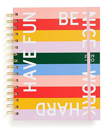 "Ban.do 17 Month 2019-2020 Medium Daily Planner with Weekly & Monthly Views, 8"" x 6.5"", Dated August 2019 - December 2020, Have Fun Be Nice Work Hard"