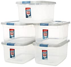 Rubbermaid clear storage containers