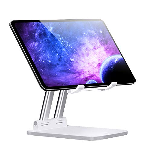 PADGENE 2020 NEW Tablet Stand Adjustable Holder Desktop mount Compatible with Nintendo Switch New iPad 2020 Pro 9.7, 10.5, 12.9, Air mini 2 3 4, Samsung Tab, All 4-12 inch Devices