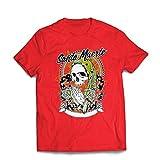 lepni.me Camisetas Hombre Nuestra Señora de la Santa Muerte - personificación Mexicana de la Muerte (Medium Rojo Multicolor)