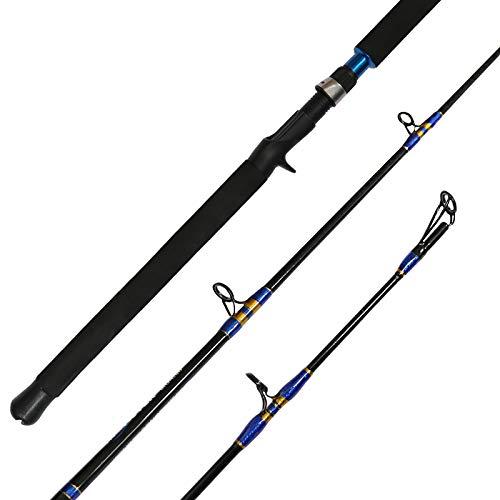 Fiblink Jigging Casting Rod 1-Piece Saltwater Fishing Jigging Jig Rod (6 Feet 30-50lb)