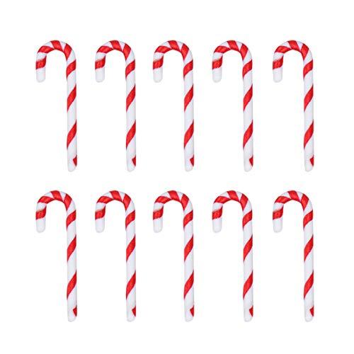 Toyvian Bomboniere per Decorazioni Natalizie da 50 Pezzi per Albero di Natale con Bastoncini di Zucchero