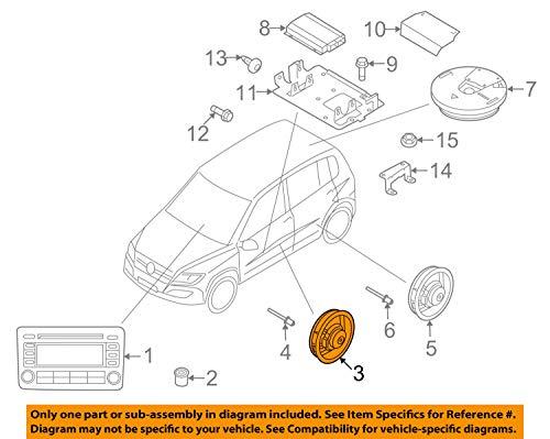Volkswagen 5N0035454B Tieftonlautsprecher vorn passiv Lautsprecher Bass Tür