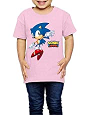 LIJUNQI Sonic The Hedgehog T-shirt voor kinderen, korte mouwen, klassiek modieus shirt, trendy print, uniseks, animatie, shirt met korte mouwen