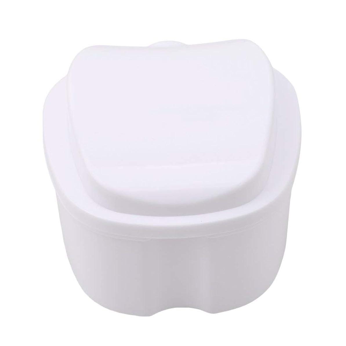 ホバート複数大いにkaiwuyu 収納ボックス 義歯収納用 リテーナーケース りんご柄 ホワイト 安全
