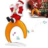 Snufeve6 Muñeco de Papá Noel de Navidad, Papá Noel Bailando, Ligero, Conveniente, Elegante y Hermoso Color, para Regalos para niños(Half Moon Santa)