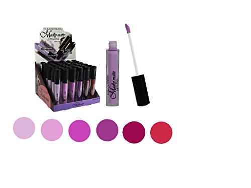 Set of 6 Colors Madly MATTE Lipgloss Bold & Vivid Color Matte Lipgloss Set #4