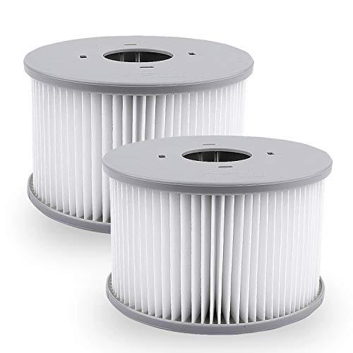 2 Whirlpool Ersatz Filter Filterkartusche Passend für MSpa Zubehör Doppelpack für aufblasbare Pools, Modelle ab 2020, (Wasserfilter Modell ab 2020)von KEEPOW