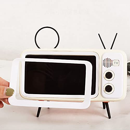 Soporte de pantalla para teléfono móvil, estilo TV, con altavoz, para iPhone 8 Plus/7 Plus/7 Plus/6s Plus/6 Plus .Un regalo ideal para familia, niña/niño amigo.